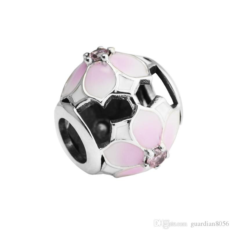 Sterling-Silver-Jewelry Beads For jewelry Making DIY Fit Pandora Bracelets BeRlOqUe Charms Perlas PerlEs Natural StoNe Beads
