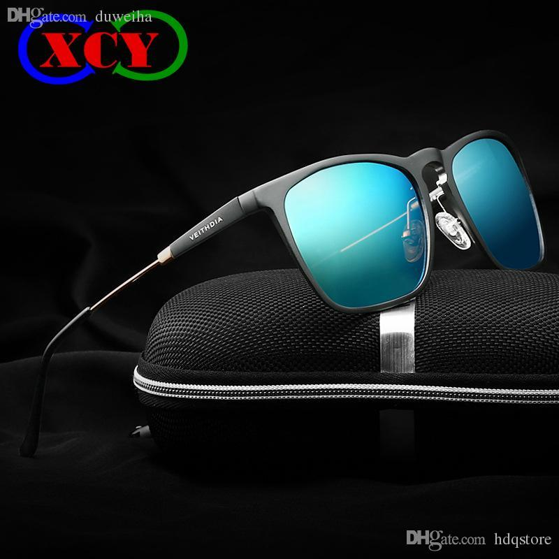 8d491e70be6ae Compre Venda Quente 2016 Mens Quadrado Retro Alumínio Espelhado Óculos De  Sol Polarizados Óculos Vintage Acessórios Óculos De Sol Lente Azul 6368  Veithdia ...