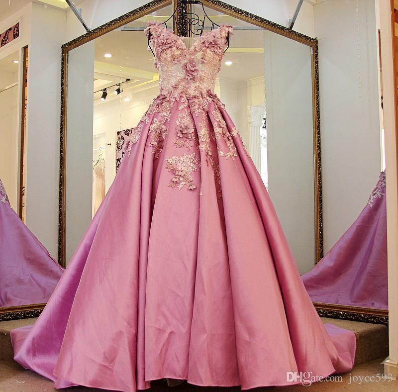Compre Vestido De Noche 2017 Nuevo El Bordado De Encaje De Lujo Con ...