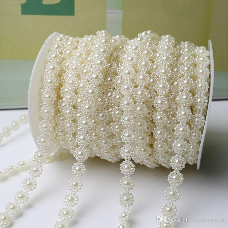 2016 New Tiaras Fishing Line Pearls Chain Pear Bead Garland Chandelier Hanging Wedding Supplies Wedding Bridal Hair Jewelry Crystal Tiaras