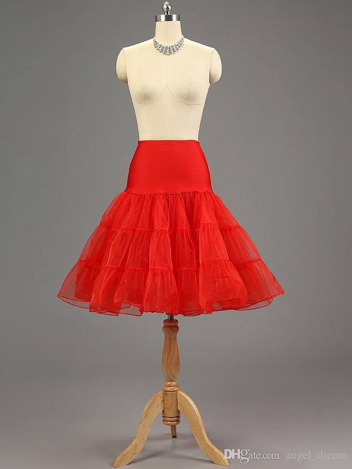 Brand New Подъюбники Белый Красный Hoopless кринолин Свадьба Свадебная Lady Girls Underskirt Принцесса Rockabilly Танец Petticoat балета Юбка туту
