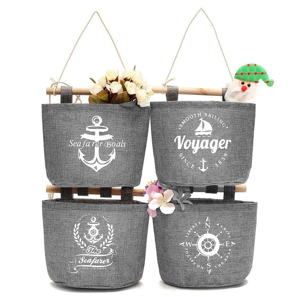 Wall Hanging Storage Baskets 2017 wholesale vintage hanging storage basket cotton linen