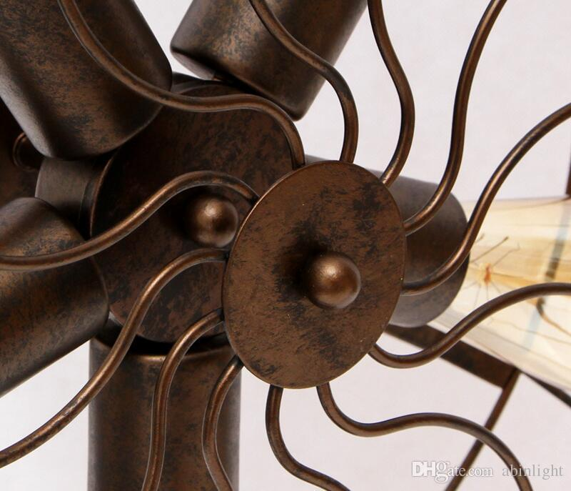 Vintage LED Metal Table Lamps Fan Shape Designed Art Deco Table Lamp for Study Bedroom Living Room Bar Decor