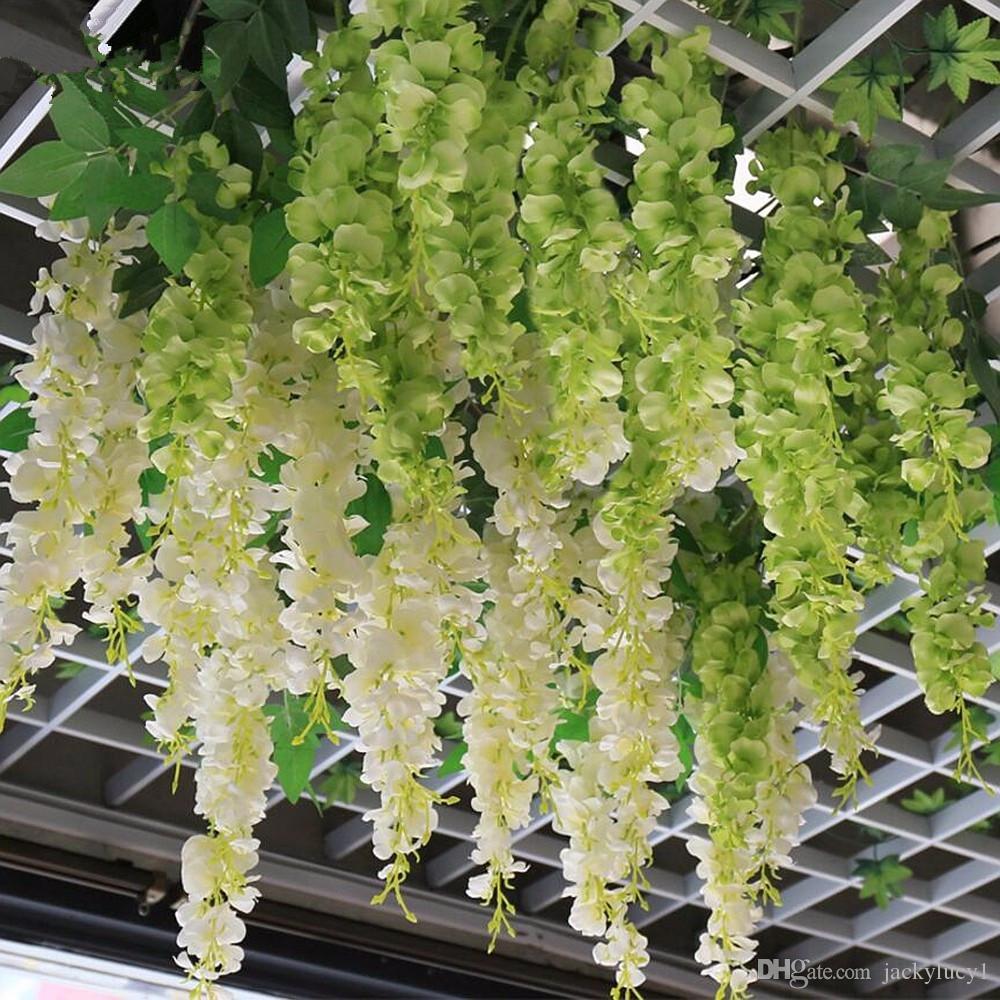 Wholesale Artificial Silk Hydrangea Wisteria Flower String Home ...