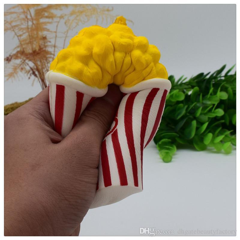 Оптовая попкорн болотистый Джамбо попкорн Squishies медленный рост душистые Squeeze Рождество стресс помощи игрушка брелки бесплатная доставка DHL