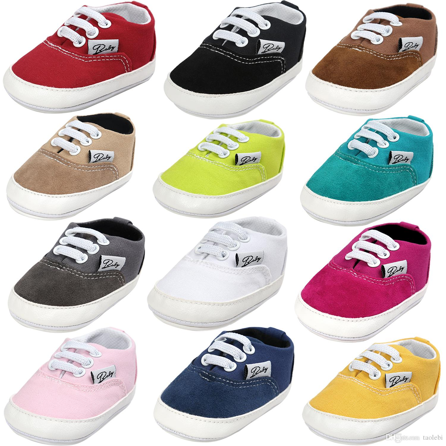 2c6f826208 3pairs/lot(mix colors)Fashion Rubber Soled baby causal shoes Baby Girl Boy  First Walkers Comfortable Rubber Soled toddler Shoes Top quality
