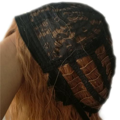 100% Echthaar Perücke Capless Perücken Frauen tiefes lockiges schwarzes Ombre Rotwein Haar Perücke 240g 14 Zoll