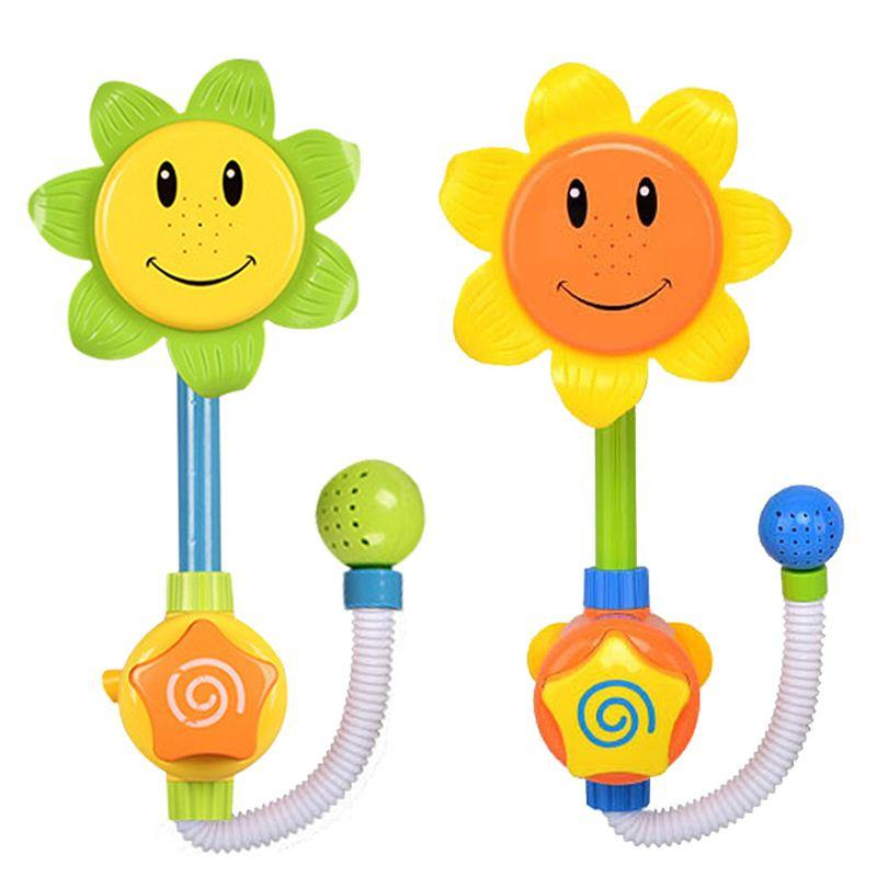 Online Cheap Baby Bath Toys Children Sunflower Shower Faucet Water ...