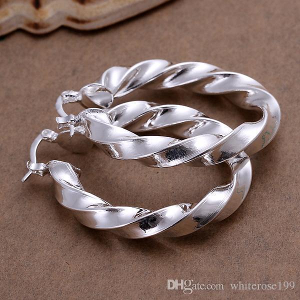 도매 - 최저 가격 크리스마스 선물 925 스털링 실버 패션 귀걸이 yE154