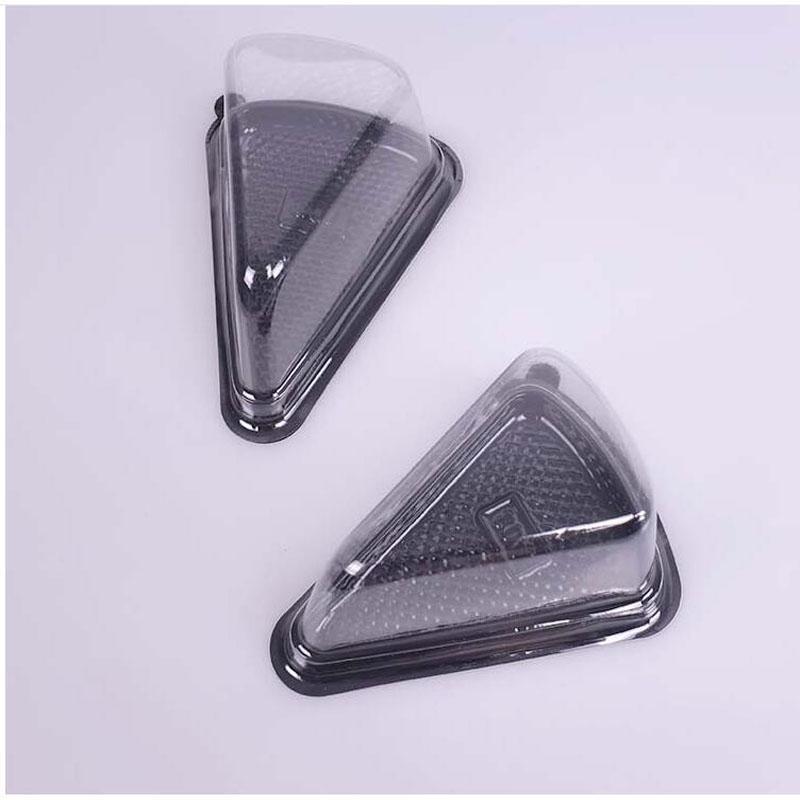 Plastic Single Individual Cupcake Triangle Cheese Cake box Triangle box 14cm*11cm*7.5cm DHL