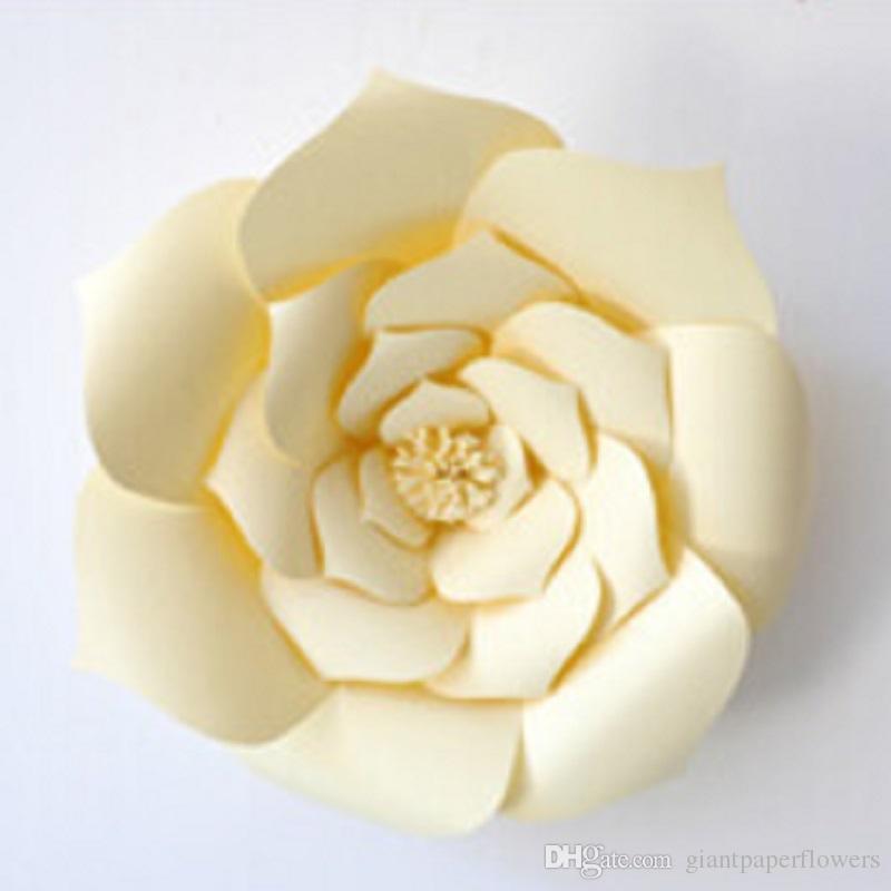 1 Parça Dev Kağıt Çiçekler Vitrin Düğün Arka Planında Sahne Bebek Odası Dekor flores artificiais para decora o 11 Renk Seçeneği