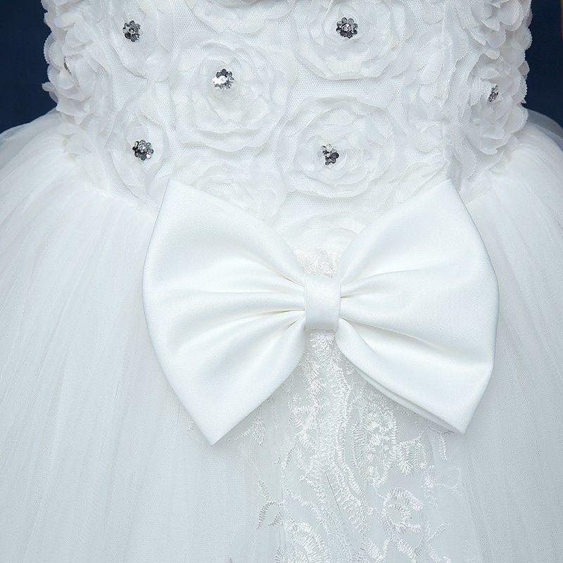 Brautkleider 2017 Elegante Trägerlose Luxus Kristall Und Bogen Dekoration Weiß Ballkleid Edle Vestido De Novia F