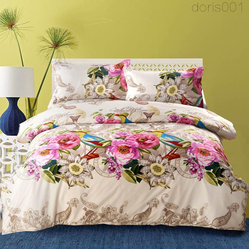 YENI stil Ev tekstili 1.6 kg pamuk yatak takımları kalınlaştırmak 4 adet Reaktif Baskı Nevresim Dahil, Çarşaf, Yastık ücretsi ...