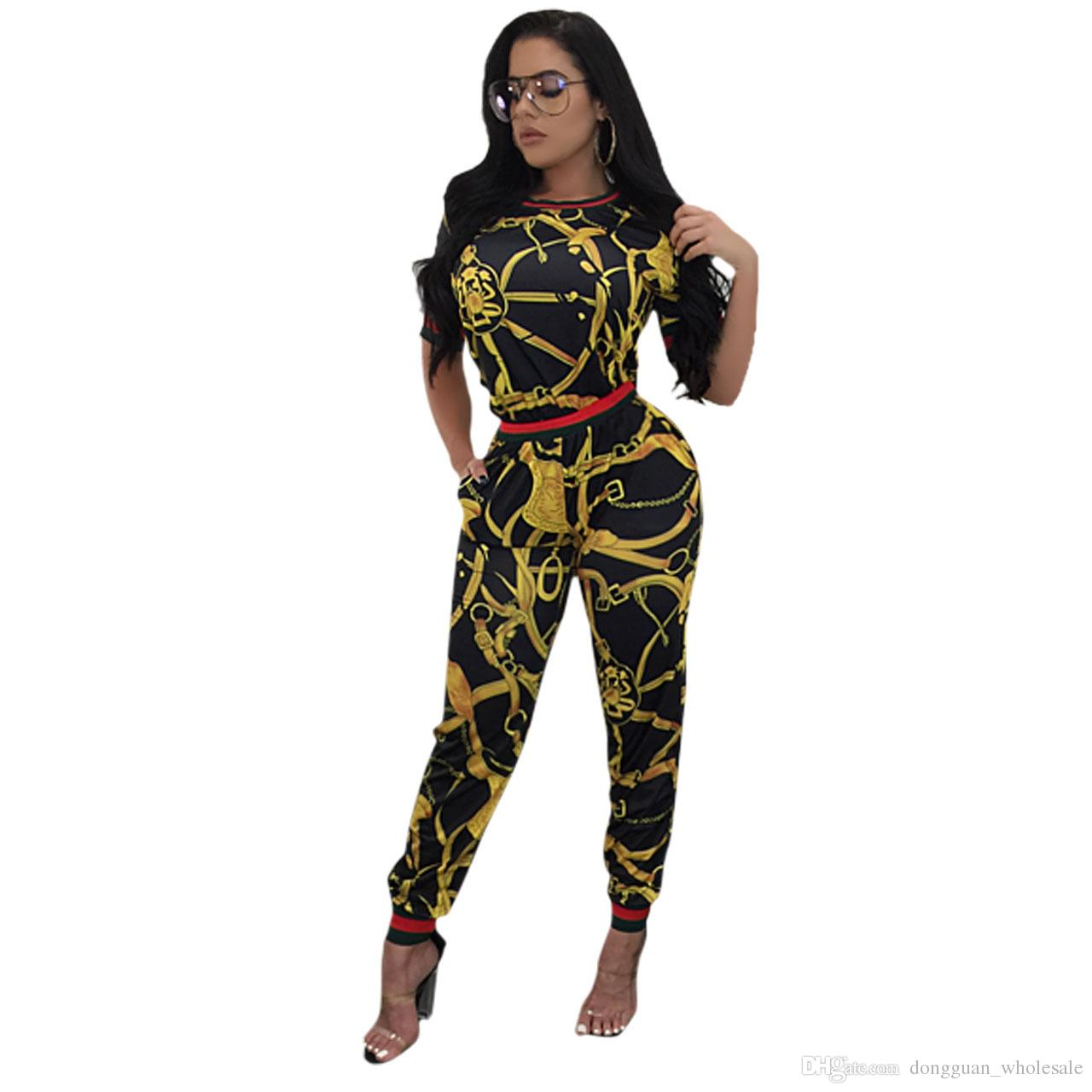 6547a3339dd 2019 2017 New Vintage African Traditional Style Two Pieces Women Jumpsuits  Half Sleeve Top Long Bodycon Pants Ladies Romper From Dongguan wholesale