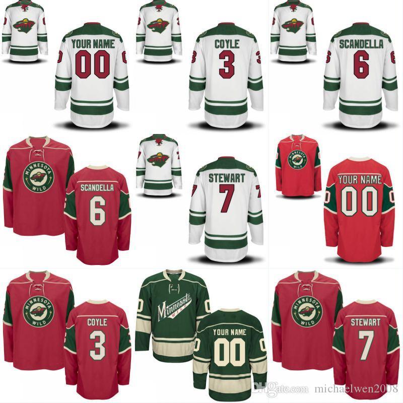 wholesale dealer 13994 32b74 Minnesota Wild Jersey 22 Nino Niederreiter 10 Chris Stewart 26 Daniel  Winnik 25 Jonas Brodin 24 Matt Dumba Custom Hockey Jerseys