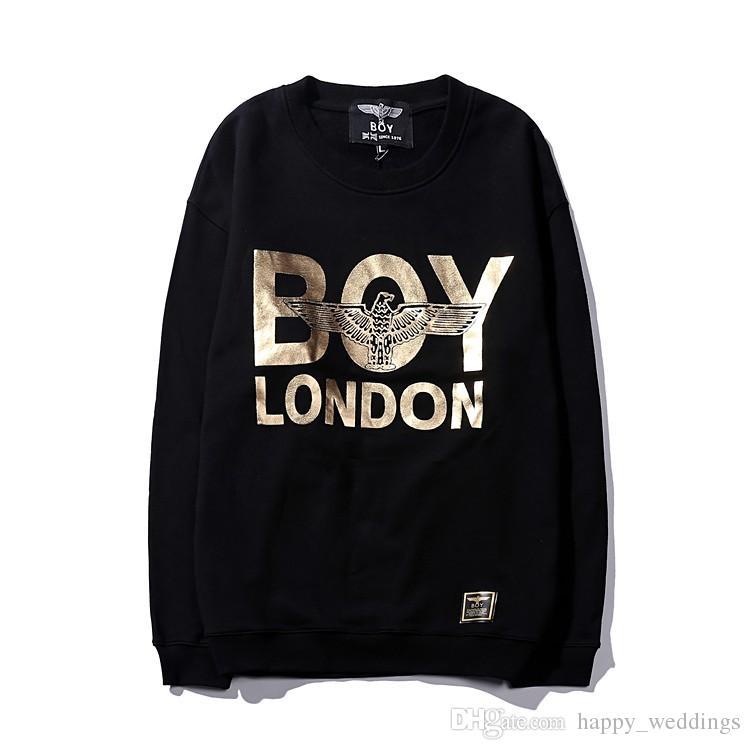 Real Hot Hawk BOY LONDON Fuente dorada Baile hip-hop RAP ROCK Moda de calle Sudadera con capucha de algodón con el chico Lable es