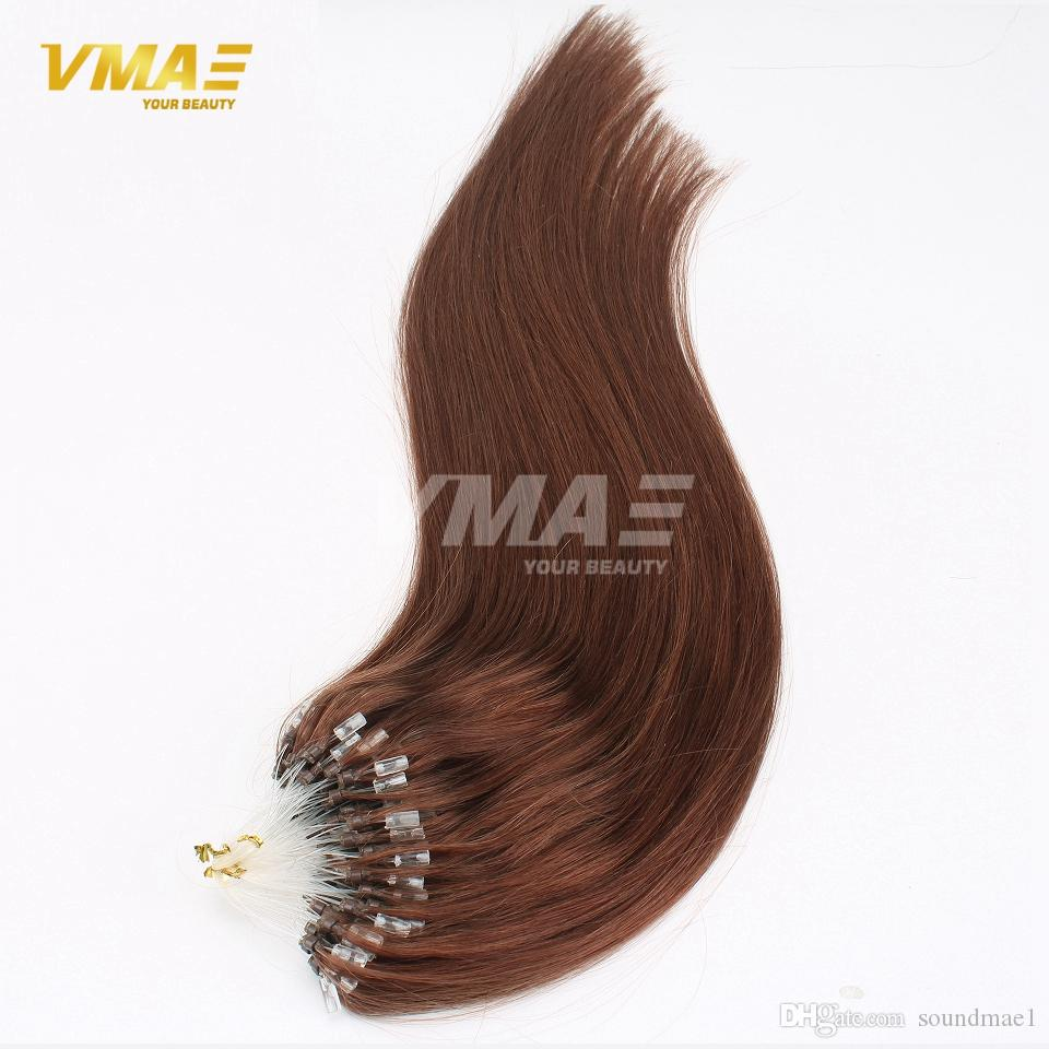 10 Colors Loop Hair Extensions 100pcs Pack Silky Straight Brazilian Remy Human Hair Micro Ring Links Hair Extensions On Sale