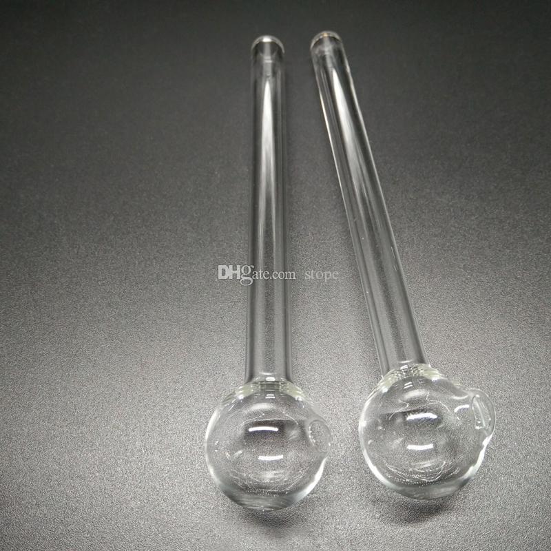 Material de edición de venta caliente de tubo de vidrio de tubo de vidrio quemador de aceite transparente Tubo de vidrio de aceite Tubo de aceite de vidrio de clavo de aceite