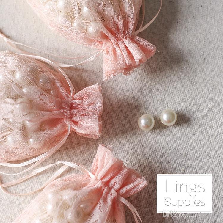 2017 레이스 캔디 가방 호의 홀더 화이트, 베이지, 핑크 웨딩 용품 결혼식 액세서리 10 * 15cm 유럽 스타일의 레이스 가방