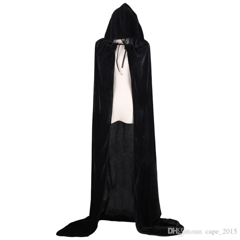 adult witch long halloween cloaks hood and capes halloween costumes for women men cosplay costumes velvet cosplay clothing adult capes adult halloween