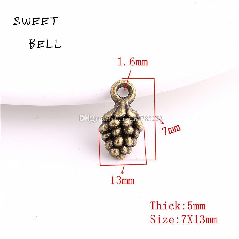 Сладкий колокол минимальный заказ 80 шт. 5*7*13 мм четыре цвета сплава цинка 3D шишка шарм для diy ювелирных изделий подвески D6135