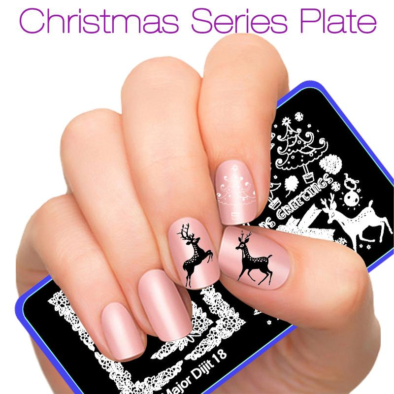 Wholesale New Nail Art Plate Halloween Christmas Pattern Nail ...
