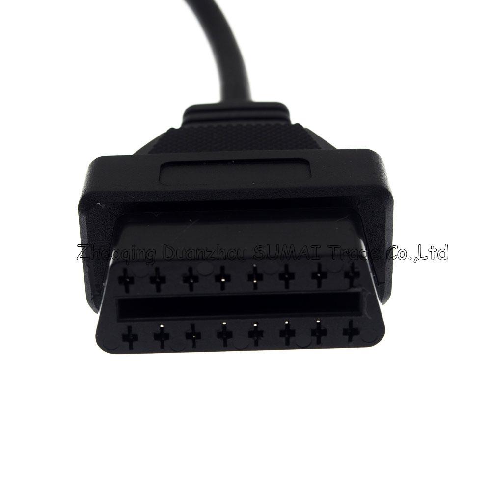 Bonne qualité 14 broches mâle à 16 broches femelle connecteur de câble OBD2, prise de conversion OBD1 / OBD2 pour Nissan etc.car, diagnostic automobile
