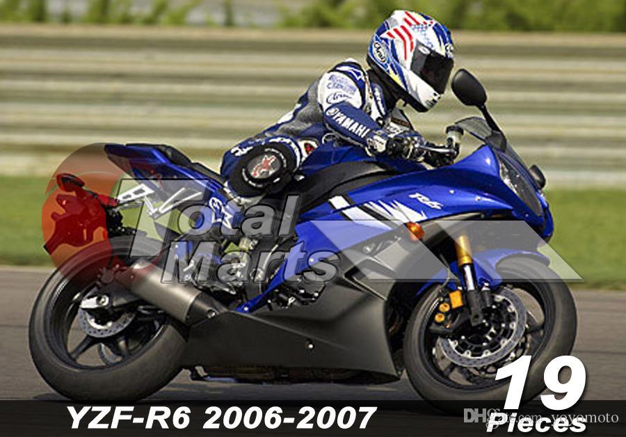 Carenado para Yamaha YZF-R6 YZF R6 06 07 2006 2007 Inyección Roja FD6110 Púrpura FD6111 Negro FD6112 Azul FD6113