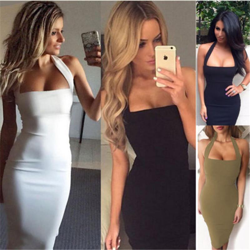 Yeni Moda Kadınlar Bandaj Bodycon Günlük Elbiseler Kolsuz Akşam Seksi Parti Kokteyl Midi Elbise Bodycon Bandaj elbise TEK PARÇA ELBISE