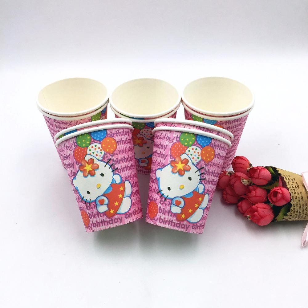 2018 Wholesale Hello Kitty Party Supplies Paper Cup Cartoon Birthday