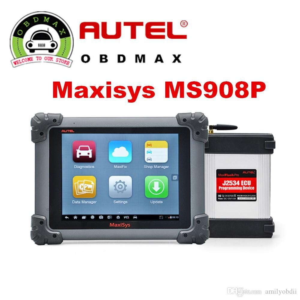 Autel MaxiSys Pro MS908P MS908 PRO Bluetooth/WIFI Diagnostic / ECU  Programming Tool with J-2534 System Update Online