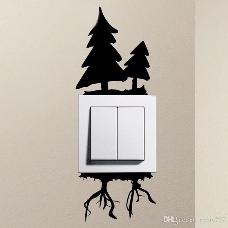 2017 Hot Sale Personality Details About Christmas Tree Cute Squirrel Light Switch Funny Vinyl Stickers Home Decor Diy