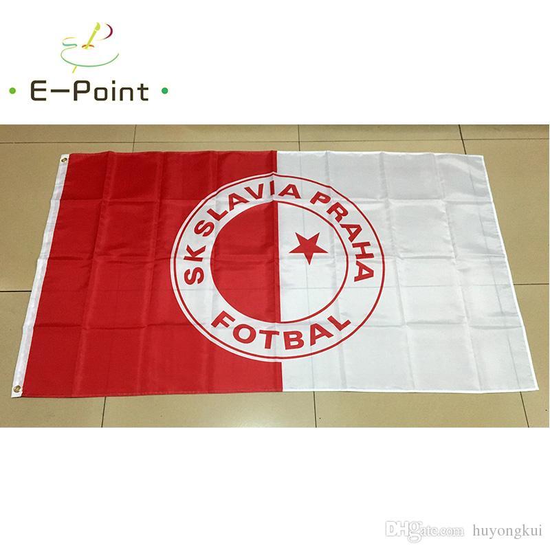90*150cm République tchèque SK Slavia Praha Fotbal 3ft*5ft taille de Noël