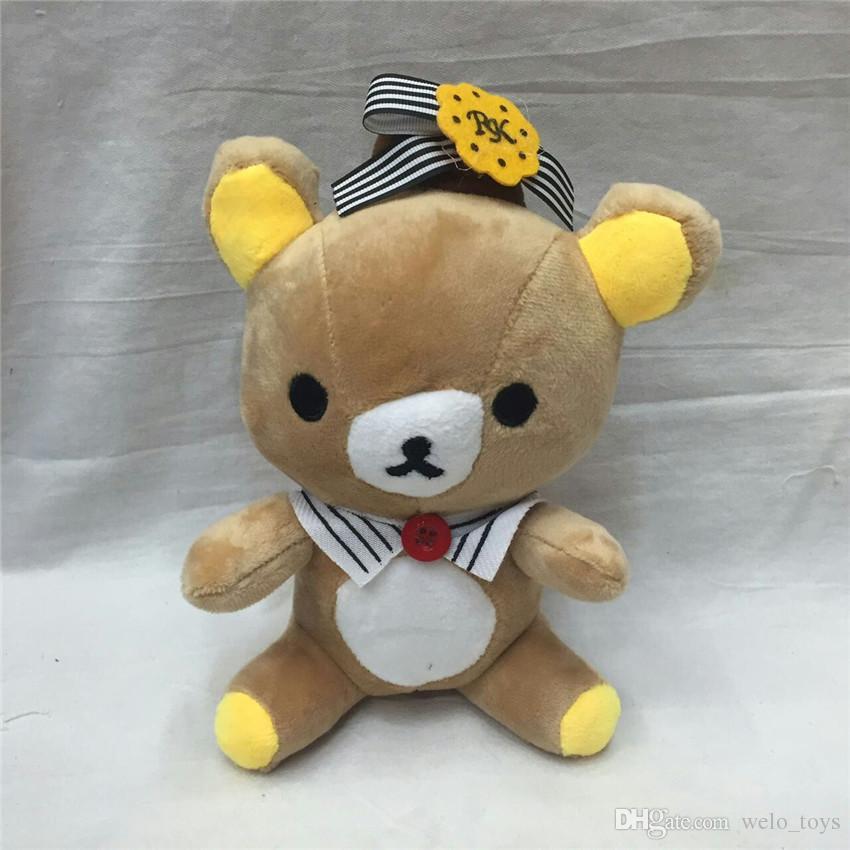 귀여운 Rilakkuma 베어 인형 장난감 18cm 쉬운 베어 인형 인형 만화 웨딩 선물 인형 아이들을위한