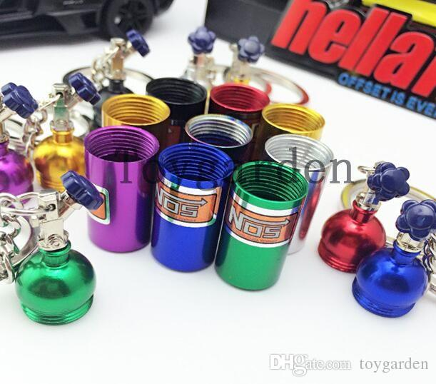 wholesale Foreign trade hot car modified NOS nitrogen bottle key chain creative bottle key chain promotional gifts