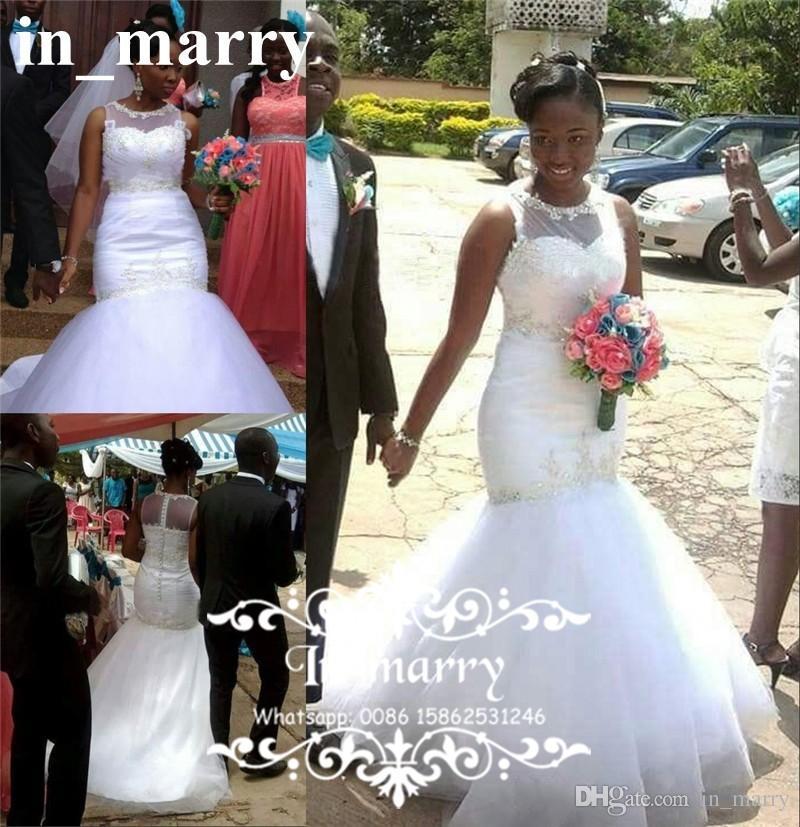Großhandel 2017 Afrikanische Nigeria Meerjungfrau Hochzeits Kleider ...