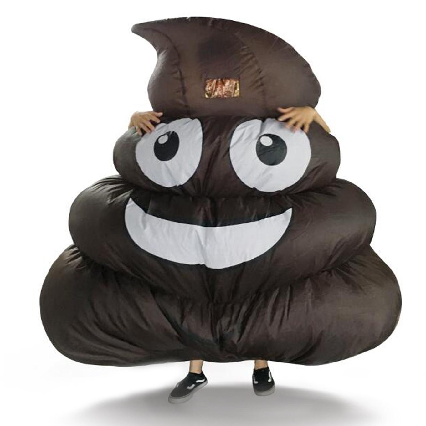 2017 Adult Kids Giant Inflatable Emoji Poop Costume T Rex ...