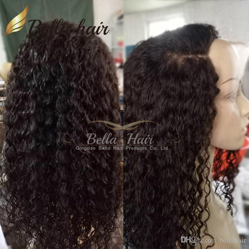 Curly Human Hair Lace Wigs for Black Women Full Head Full Lace Wigs Virgin Human Hair Wigs Natural Color Bellahair 8A
