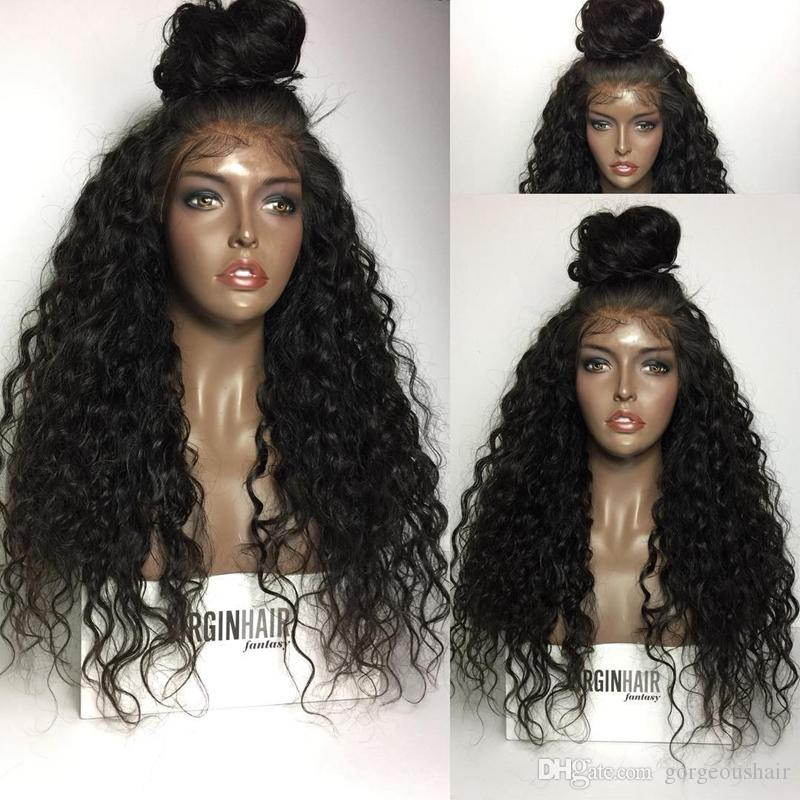 Lace Front Human Hair Wigs With Baby Hair 8A 130% Density Glueless Kinky Curly Lace Wig Malaysian Virgin Hair Full Lace Wigs