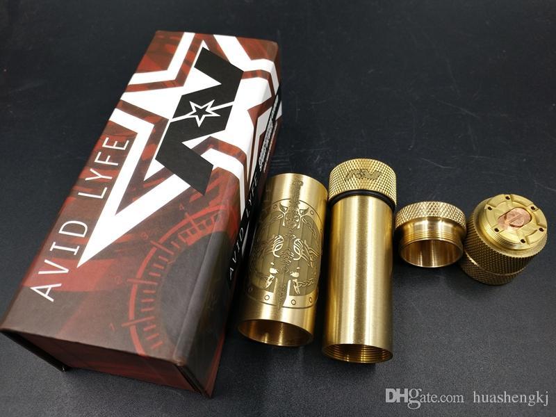 Neueste Avidlyfe Gear Mod Avidlyfe Mods AV Twistgyre Regenbogen ABLE XL MOD Messing 18650 Batterie mit 510 Gewinde Hohe Qualität DHL geben frei