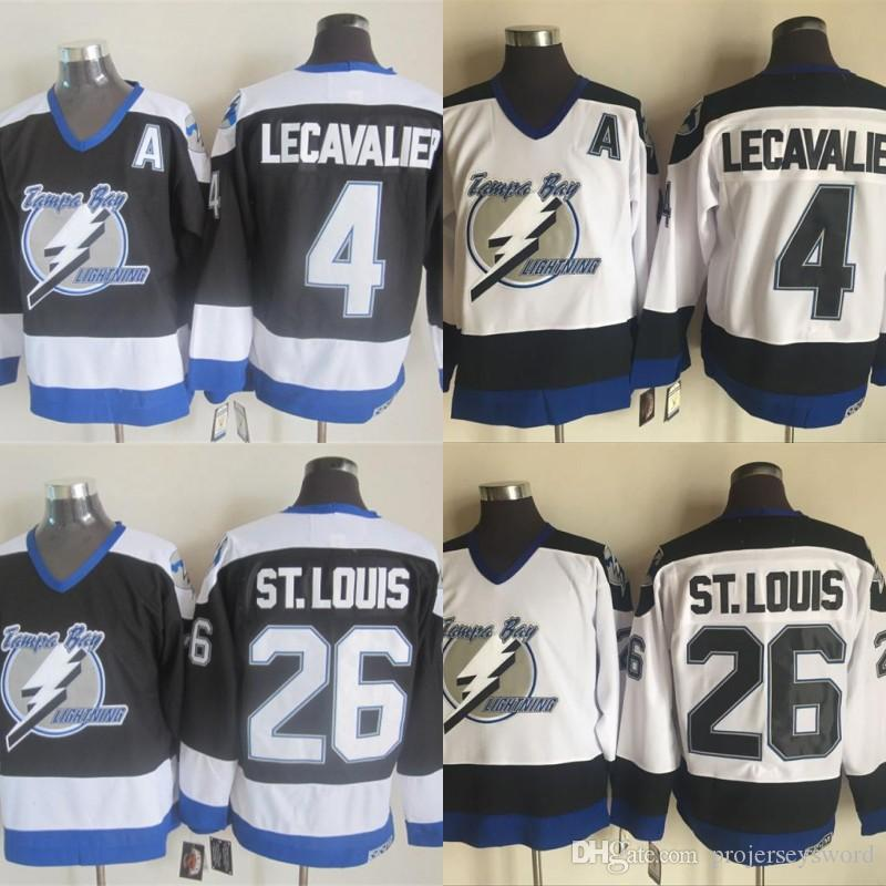 2019 Mens Tampa Bay Lightning Jersey 26 Martin St.Louis 4 Vincent  Lecavalier 100% Stitched Hockey Jerseys Black White From Projerseysword ce75349ad