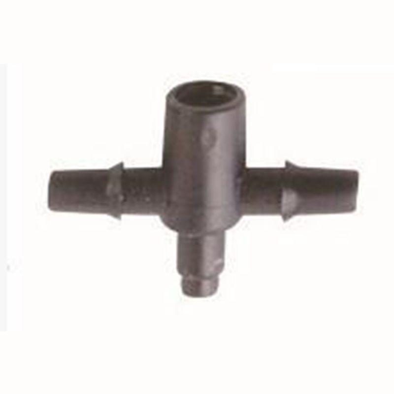 3 / 5mm PE-Schlauch-T-Stück-Verbindungsstück-dreifaches Hauptverteiler-Garten-Mikroplastik-Tropfenfänger Drei-Wege-Wye-Wasser-Knockout-Falle-Reihe ...