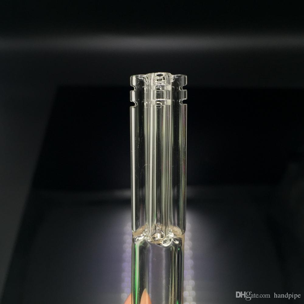 DHL Free!! Glass Downstem With 5 Armed Connector 14mm Female To 18mm Male Down Stem Glass Water Pipe Dab Rig Glass Bong Downstem