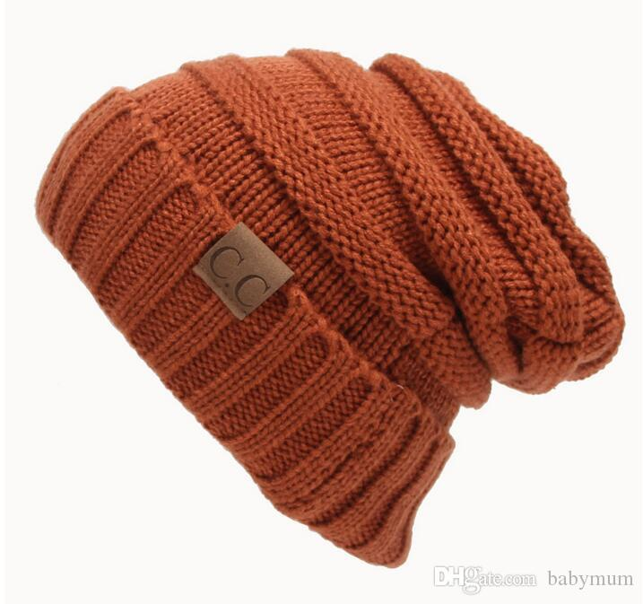 Newest Parent-Child CC hats Baby Mum Wool Beanie Winter Knitted Hats Warm Hedging Skull Caps Hand Crochet Caps Hats