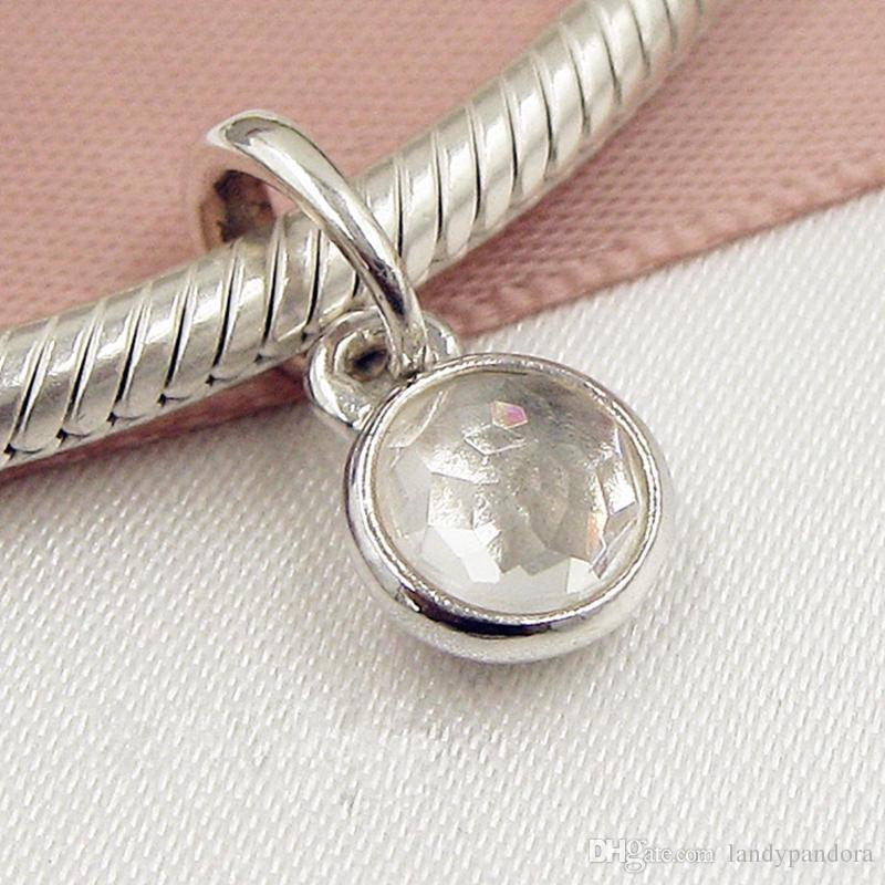 735236715 2019 2017 Loose Bead 925 Sterling Silver April Droplet Dangle Charm With  Gem Fits European Pandora Jewelry Bracelet Necklace & Pendant From  Landypandora, ...