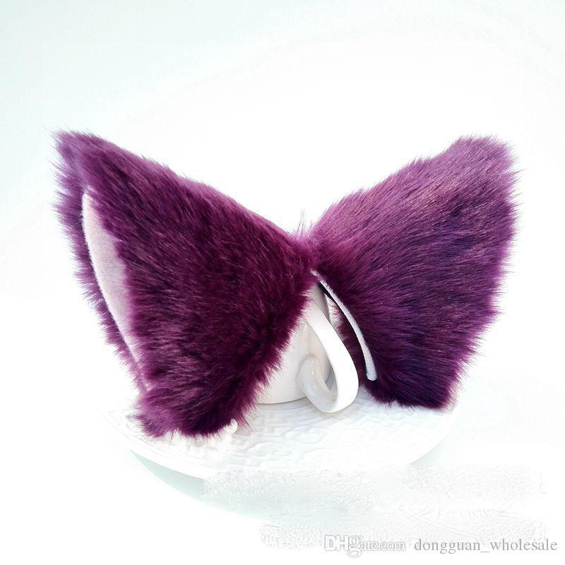 Kawai Girls Cosplay Anime InuYasha Sesshoumaru Cute Pretty Headband Women Ears fashion Dance Party Headwear Cat Ear Hair Clip 2018