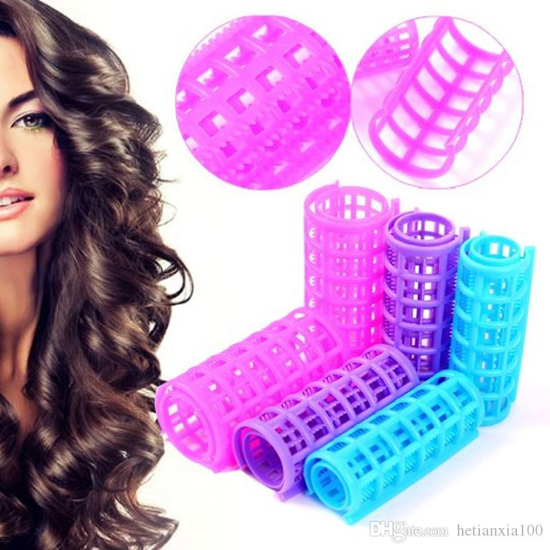 Plastic Hair Rollers Hair Curlers DIY Hair Salon Curlers Rollers Tool Soft Large Hairdressing Tools 6/8/10/12pcs