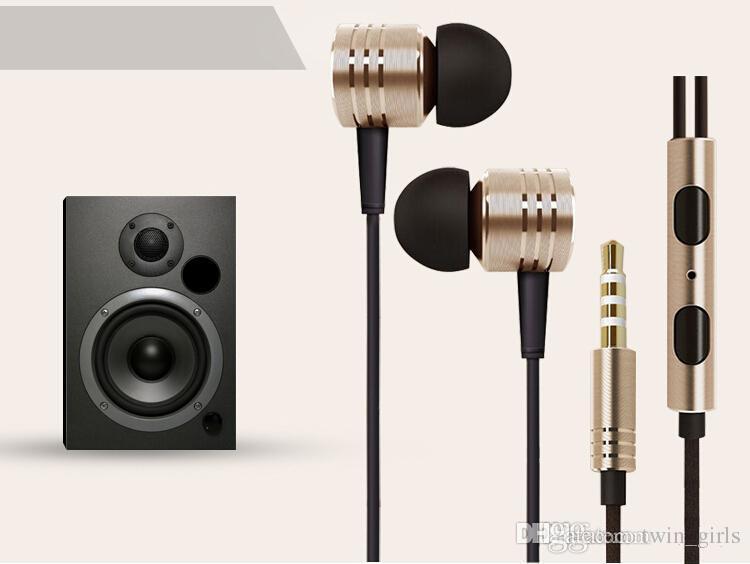 3,5mm metall xiaomi kolben kopfhörer rauschunterdrückung in-ohr headset kopfhörer mit mikrofon fernbedienung für xiaomi samsung iphone 6 6s