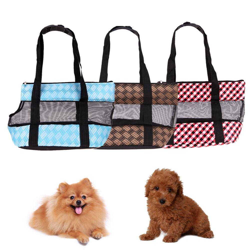 Breathable Pet Carrier Carrying Cat Dog Puppy Small Animal Handle Carrier Mesh Comfort Travel Tote Shoulder Bag Pet Backpack