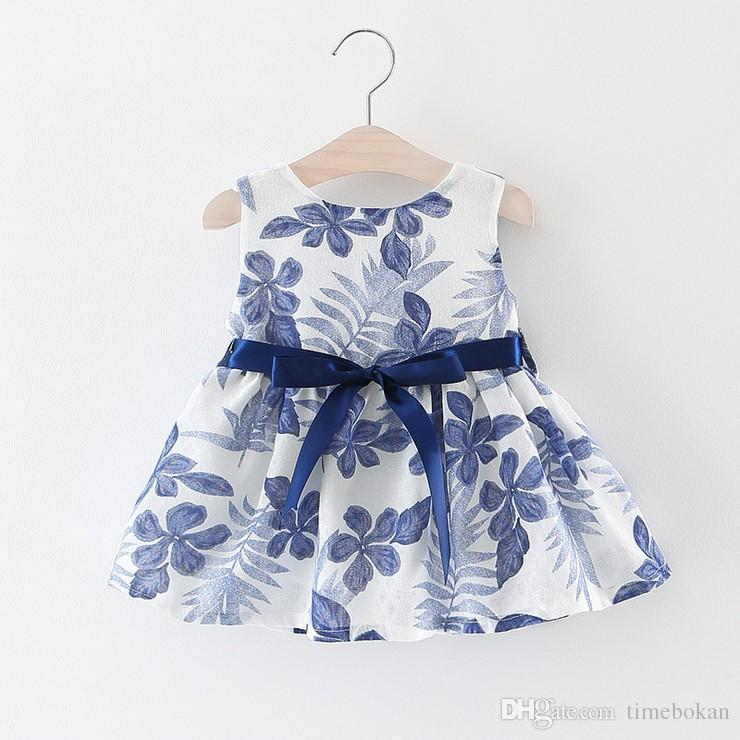 ce76bfd63ad0 2019 2017 Summer Baby Girl Dress Kids Sleeveless Bow Bird Dresses ...